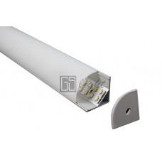 Угловой алюминиевый профиль NUGL 30*30 (овальный рассеиватель)